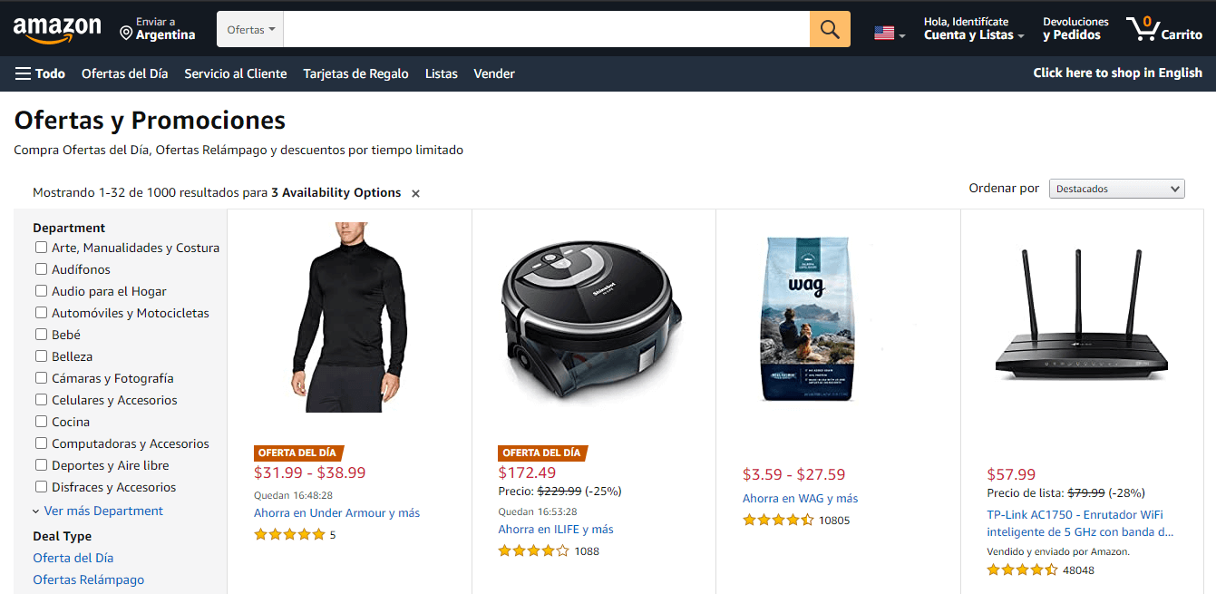 Amazon ofertas del dia
