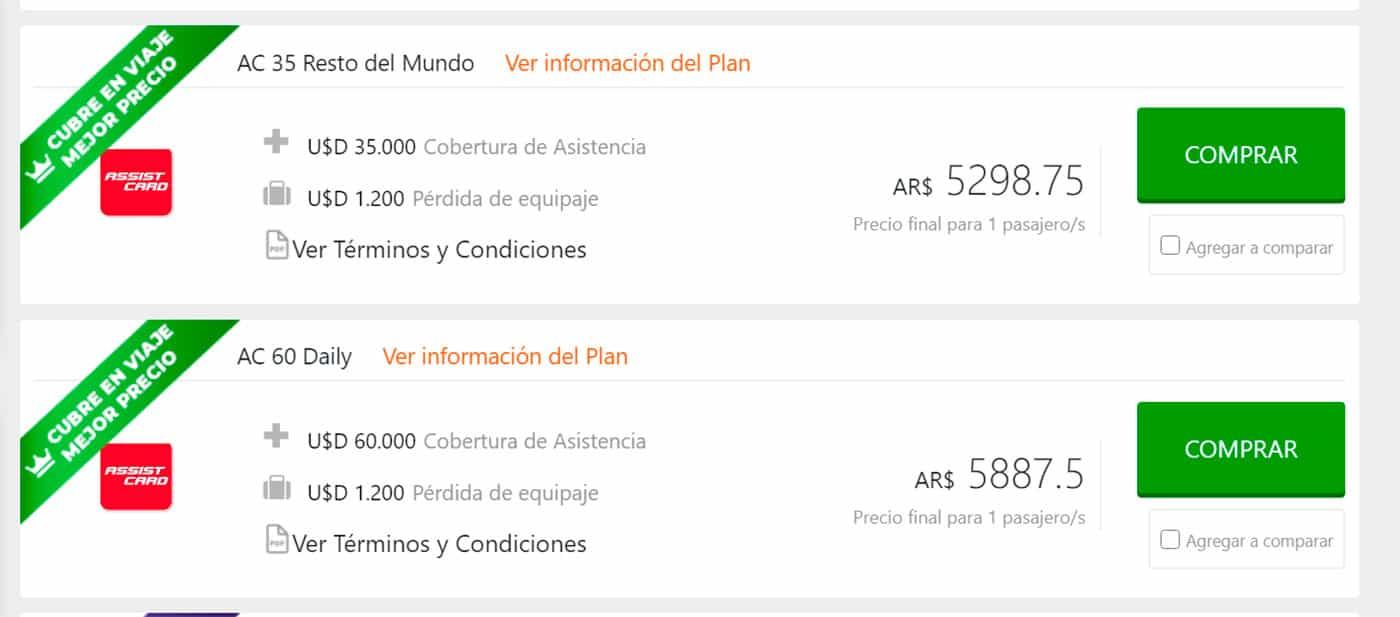 Assist Card Brasil, seguro de viaje obligatorio, cotizar, buen precio, promocion