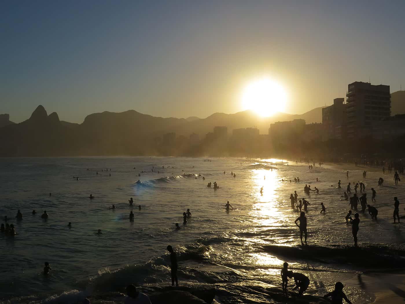 Pedra do Arpoador, atardecer, Río de Janeiro