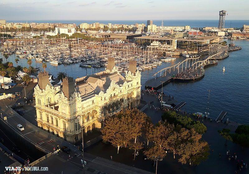 Barcelona,-lugares-desconocidos,-no-todos-conocen,-lado-b,-mirador-de-colon,-maremagnum,-costanera