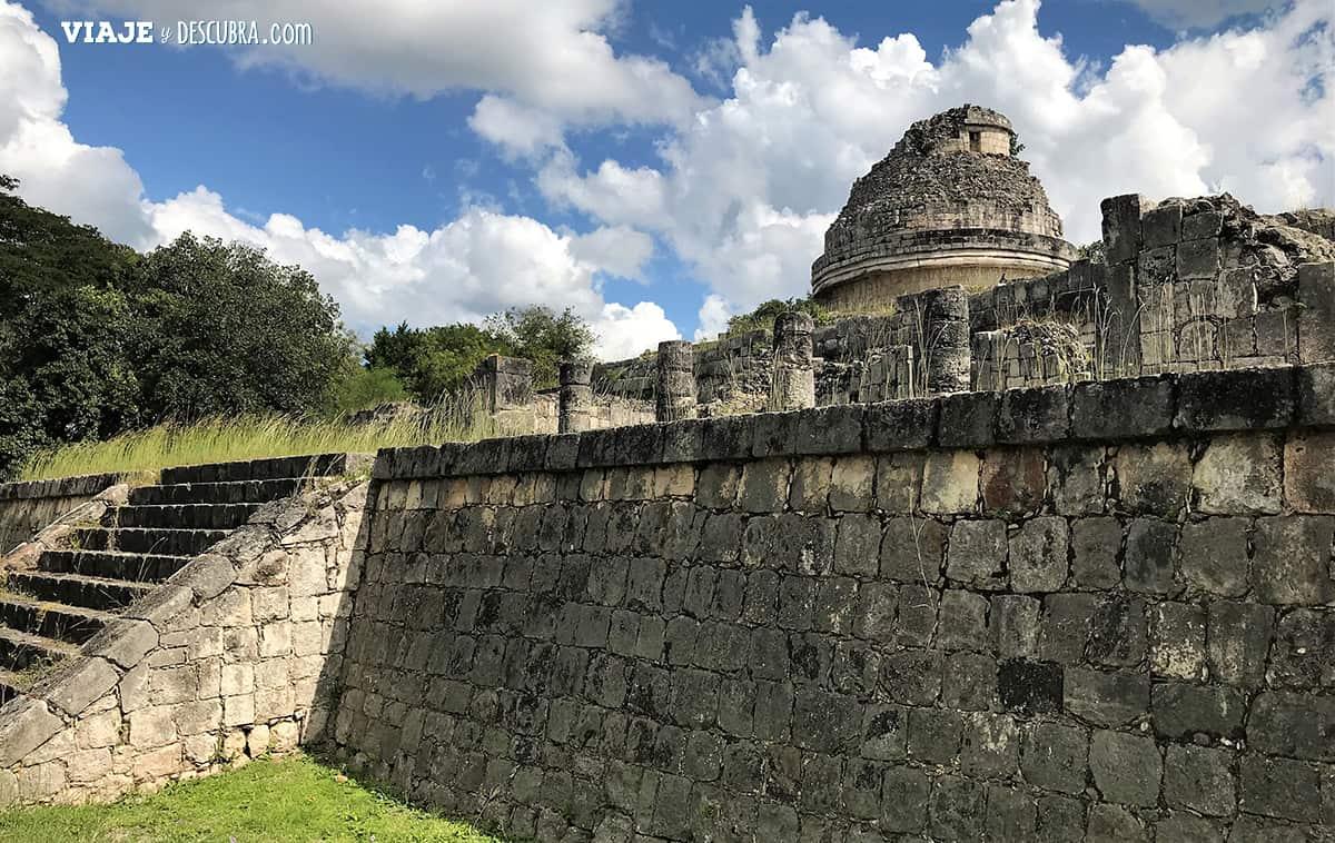 Chichen-Itza,-ruinas-mayas,-mexico,-observatorio,-caracol