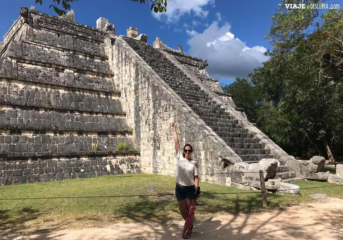 Chichen-Itza,-ruinas-mayas,-mexico,-yucatan