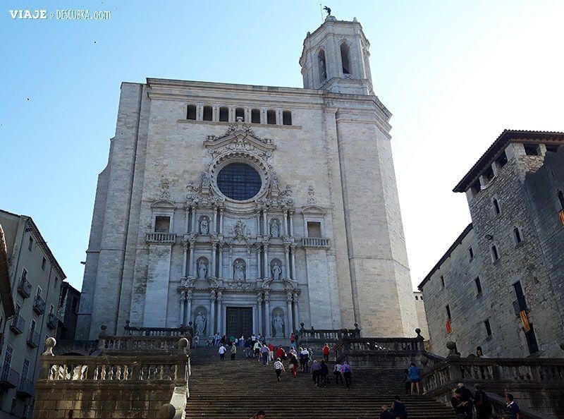 Girona-y-Figueres-en-el-día,-Barcelona,-Girona,-ciudad-medieval,-tour-de-un-día,-Catedral