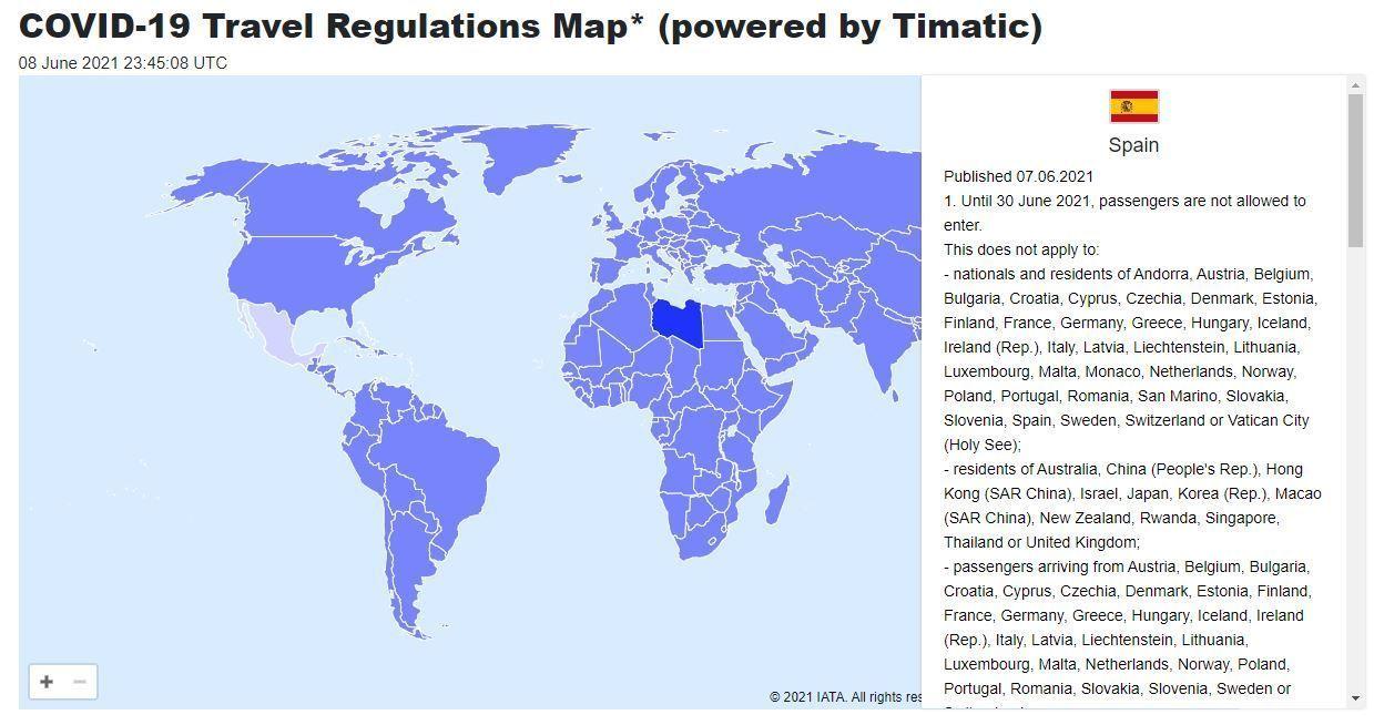 IATA; requisitos, regulaciones para viajar a Europa por país