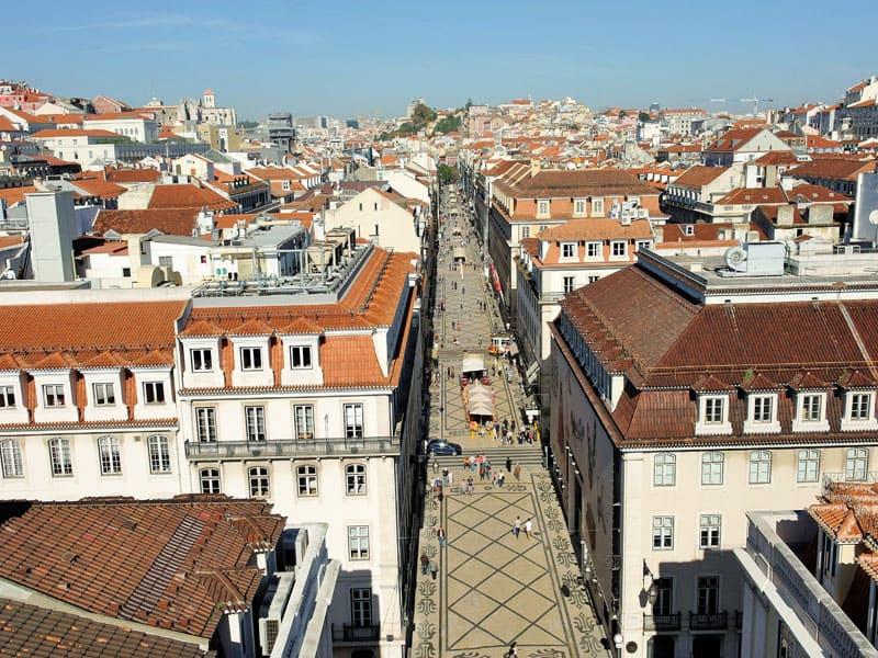 Barrios de Lisboa: La Baixa desde el Arco da Rua Augusta