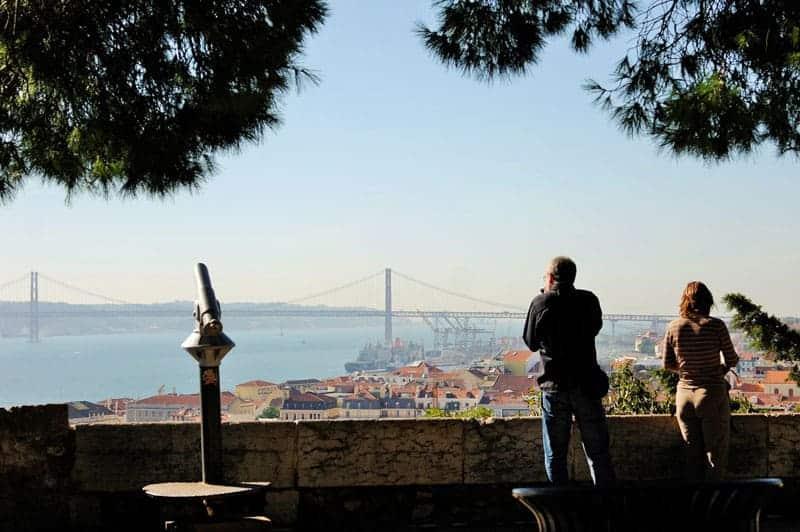 Lisboa, Portugal, imperdibles, castillo de San Jorge, castelo de Sao Jorge, mirador, mirante
