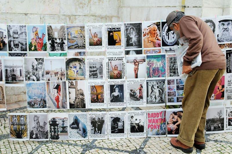 Barrios de Lisboa en Portugal, una foto típica de sus calles