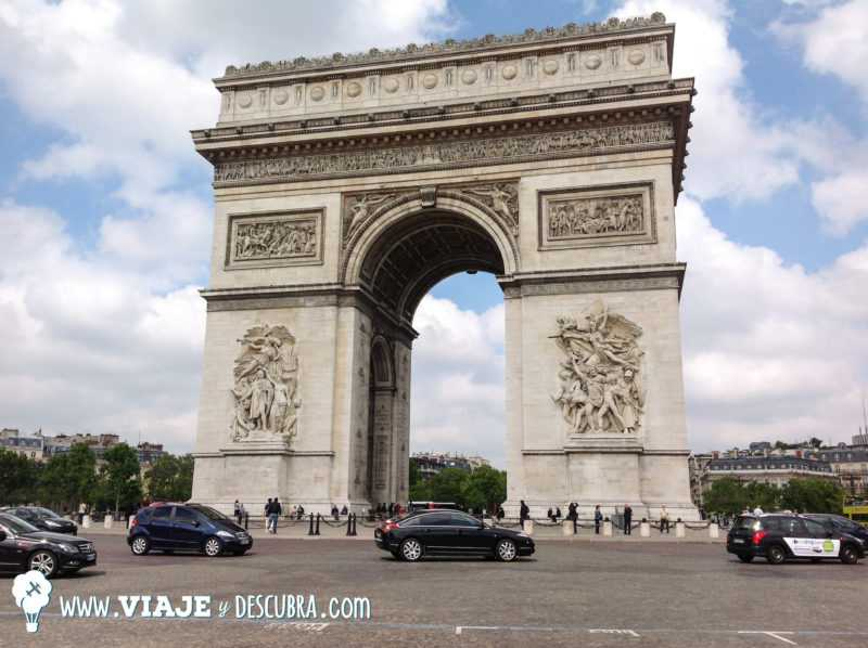 arc do triomphe, arco del triunfo, paris, francia, tour, imperdibles, europa, mochilero a europa