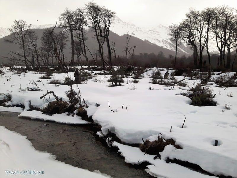 bicicletas-en-la-nieve,-hielo,-ruedas-con-clavos,-excursion,-imperdible,-ushuaia,-aventura,-ushuaia-extremo,-nieve,-invierno,-montaña,-lago