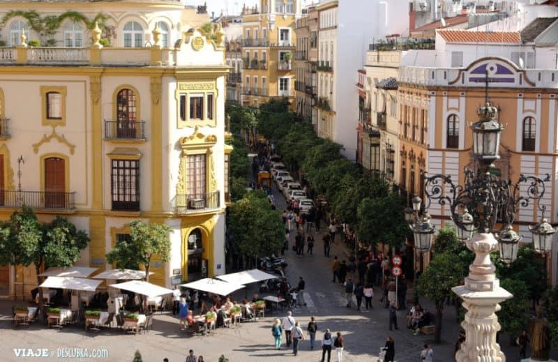 """las callecitas de Sevilla, desde """"La Giralda"""""""