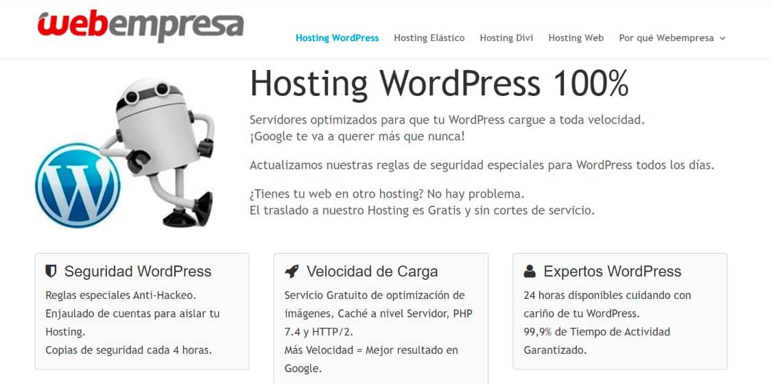contratar hosting webempresa para wordpress