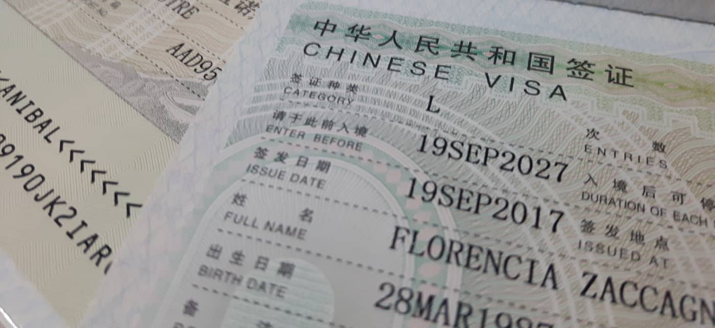 como sacar la visa china en Buenos Aires