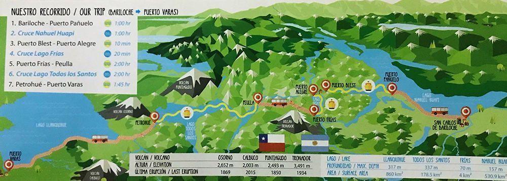 Mapa del recorrido del Cruce Andino