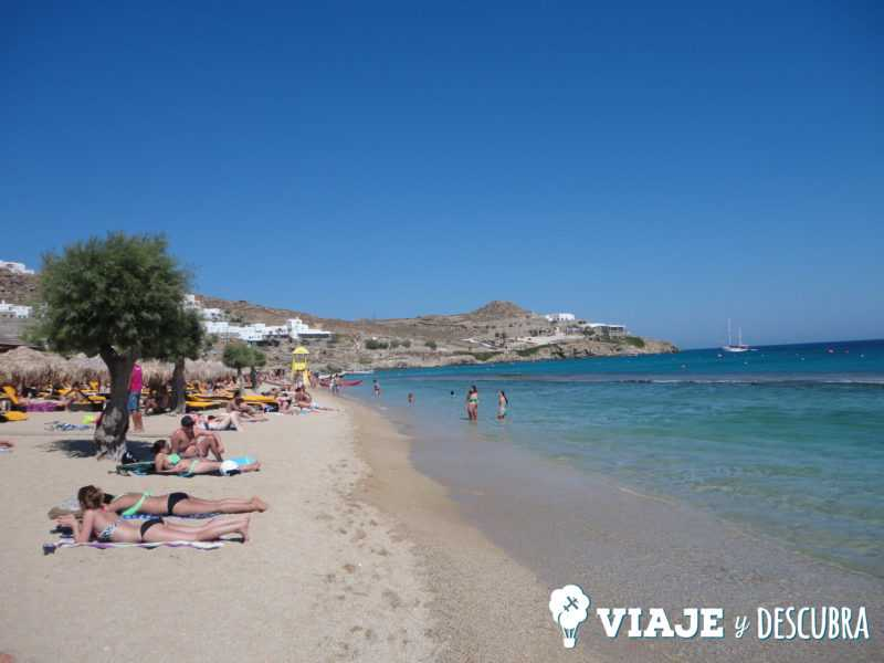 paradise beach, mikonos, mykonos, islas griegas, ferry, grecia, atenas.