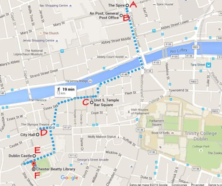 Dublin, Irlanda, dos días en Dublin, qué ver en Dublin, imperdibles Dublin, mapa Dublin, dia 1