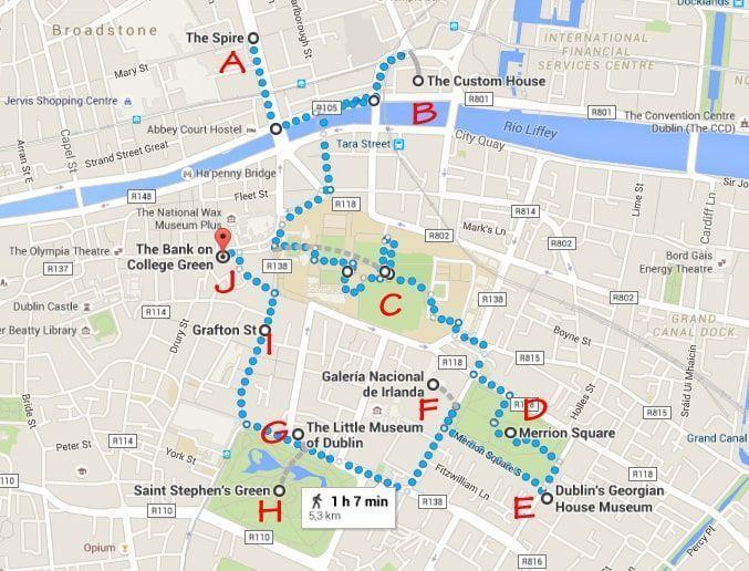 Dublin, Irlanda, dos días en Dublin, qué ver en Dublin, imperdibles Dublin, mapa Dublin, dia 2 AM
