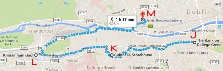 Dublin, Irlanda, dos días en Dublin, qué ver en Dublin, imperdibles Dublin, mapa Dublin, dia 2 PM