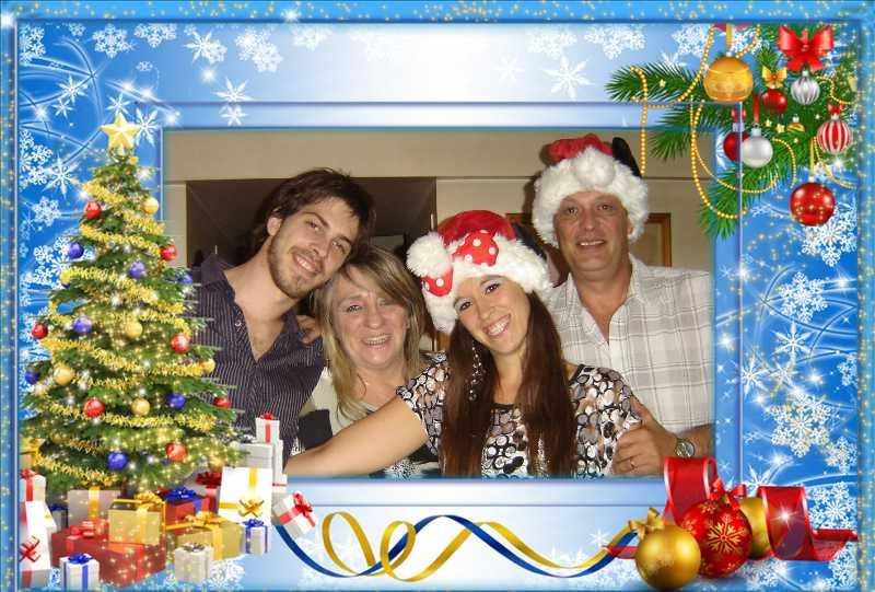 feliz navidad familia