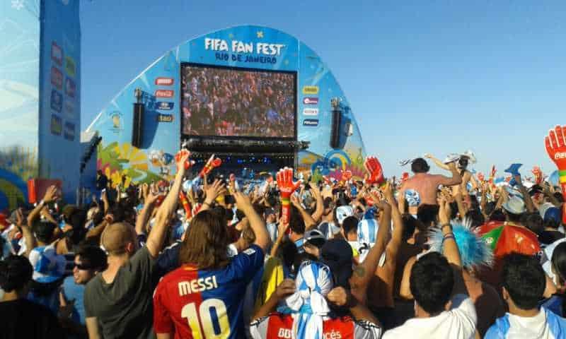 FIFA Fan Fest, copada por Argentinos.