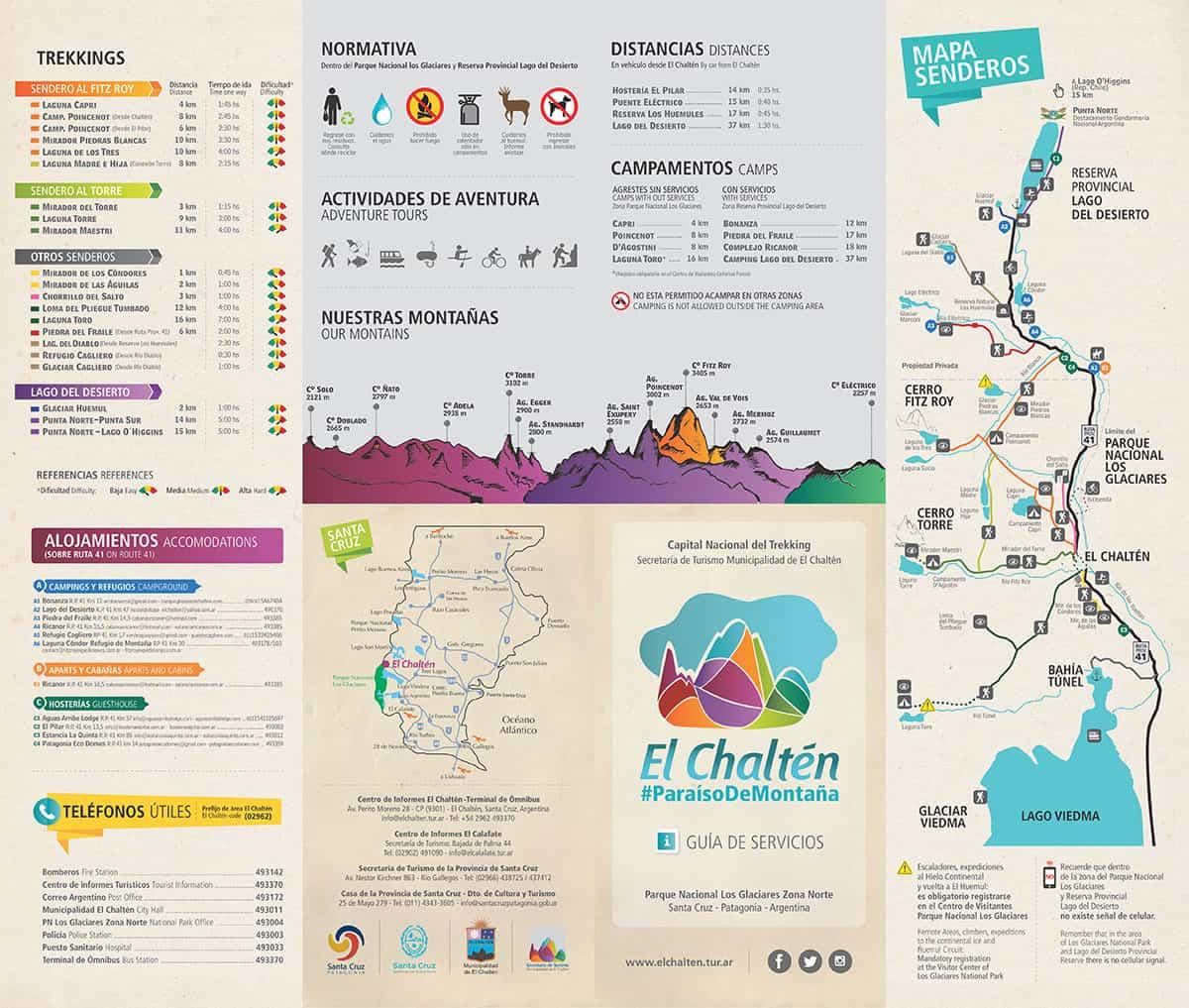folleto-el-chalten,-santa-cruz,-trekking,-senderos,-laguna-de-los-tres,-laguna-torre,-hielos-continentales,-mapa,-donde-queda,-como-llegar