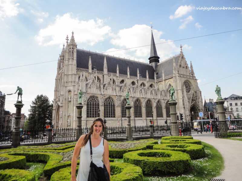 Notre Dame du Sablon- Bruxelles - bruselas - belgica - europa - eurotrip - mochilero a europa