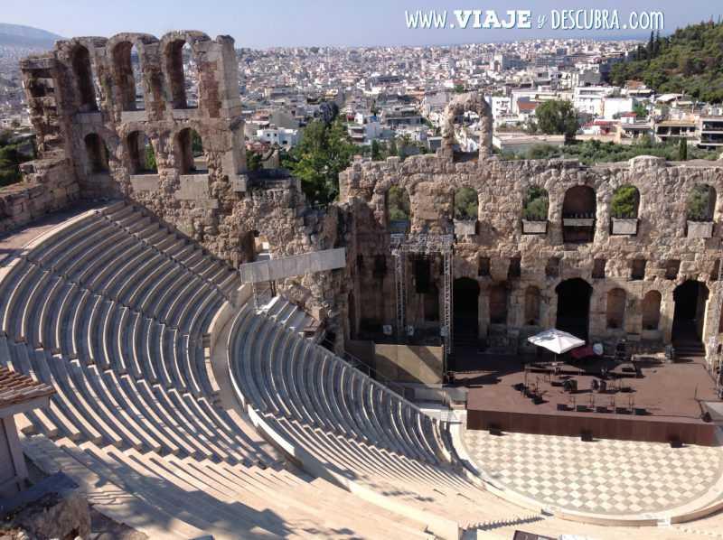 atenas, acropolis, Odeón de Herodes Ático, arquitectura, partenon, europa, itinerario, dos dias en, imperdibles