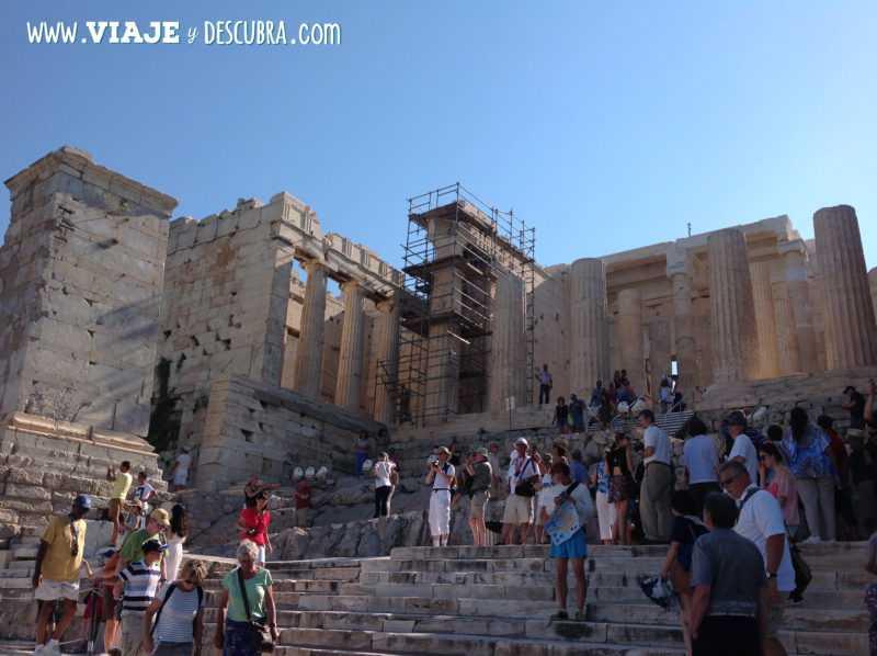 atenas, acropolis, Propileos, arquitectura, partenon, europa, itinerario, dos dias en, imperdibles