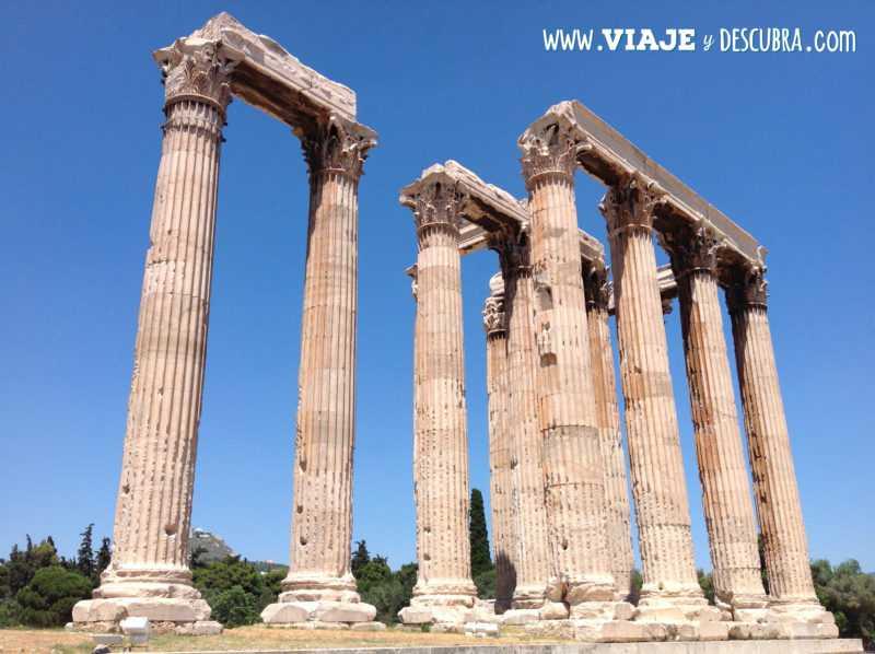atenas, acropolis, templo, zeus olimpico, arquitectura, partenon, europa, itinerario, dos dias en, imperdibles