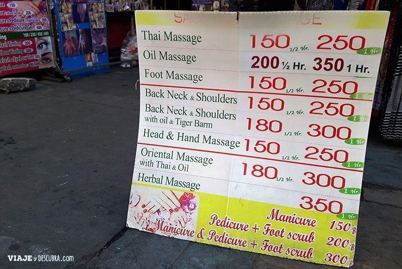 imperdibles-Bangkok,-Tailandia,-Asia,-mercado,-peatonal,-calle-de-los-mochileros,-kao-san-road, masajes, thai massage