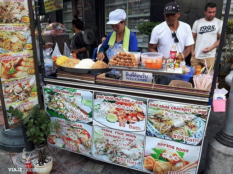 imperdibles-Bangkok,-Tailandia,-Asia,-pad-thai,-comida-callejera,--comida-tailandesa,-kao-san-road