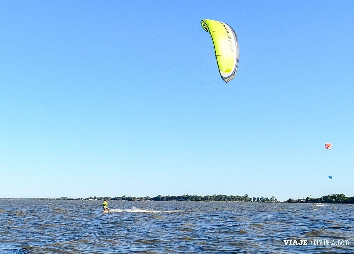 kitesurf, laguna de chascomus, deportes acuaticos