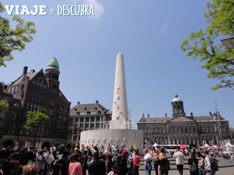 amsterdam, imperdibles amsterdam, plaza dam, dam, palacio real, bicifriendly, bicicleta, países bajos, holanda.
