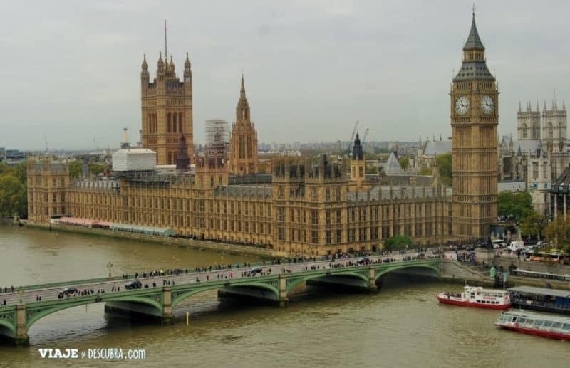 londres, london, london eye, parlamento completo, big ben, londres, inglaterra, UK, reino unido, europa, europa con mochila, imperdibles londres