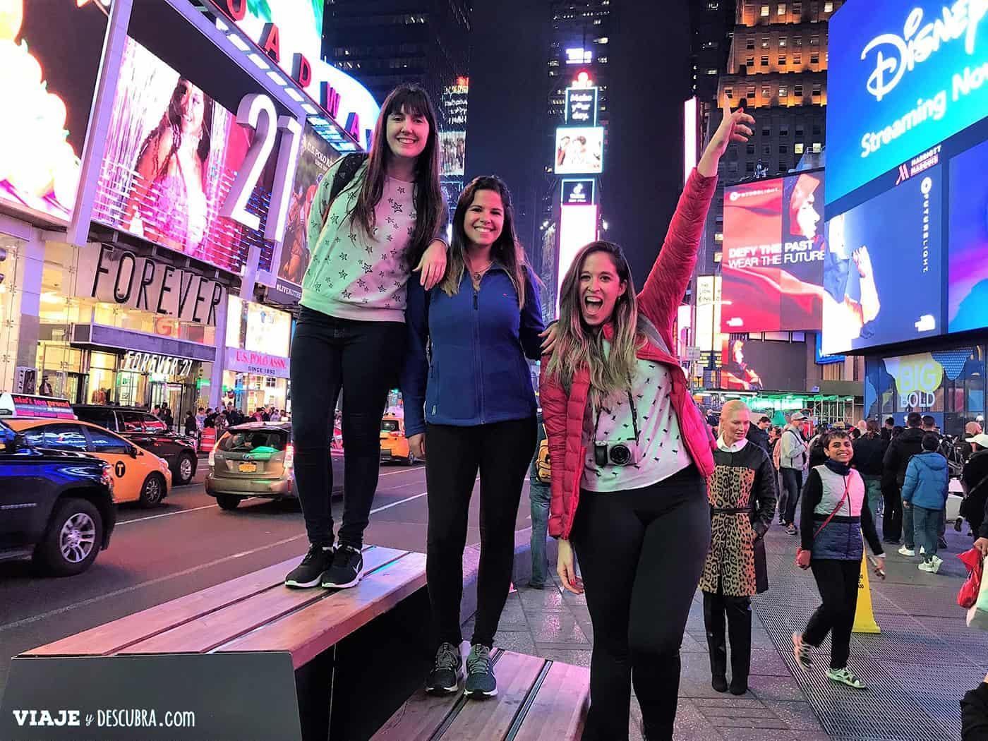 Times Square - Nueva York con amigas