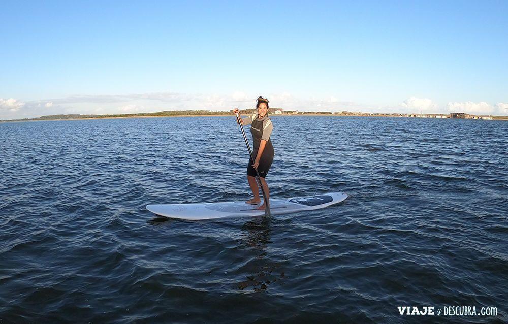 stand up paddle en Laguna Garzón