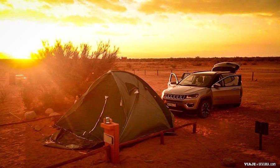 Acampar en el Parque Nacional Talampaya