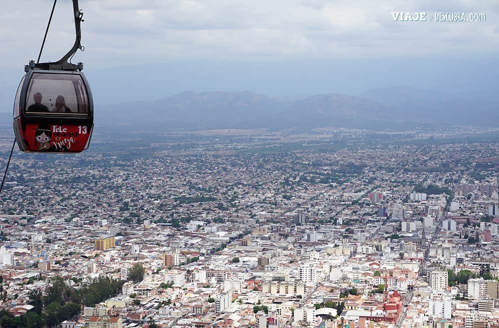 Cerro San Bernardo, teleferico, Salta