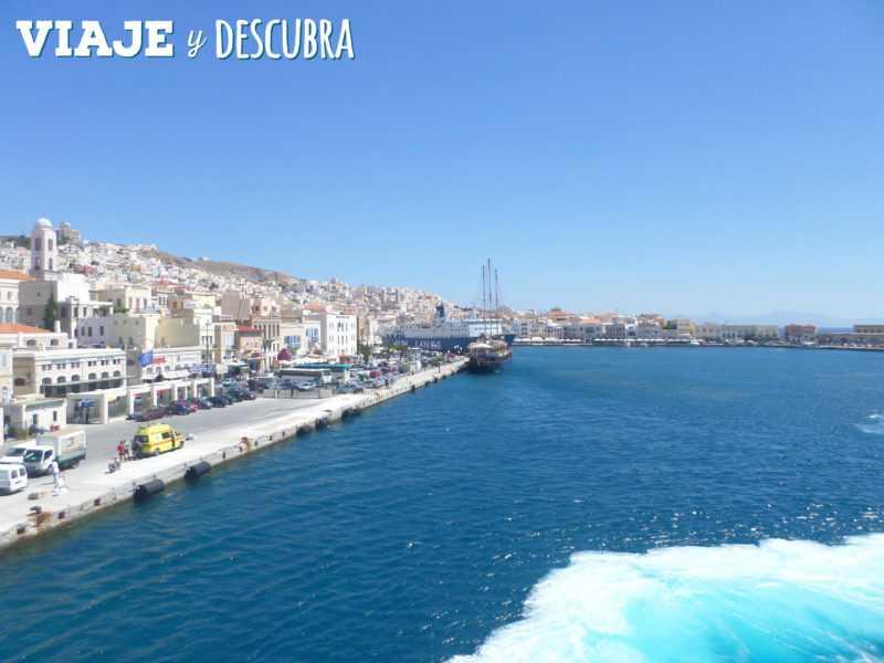 santorini, oia, islas griegas, ferry, grecia