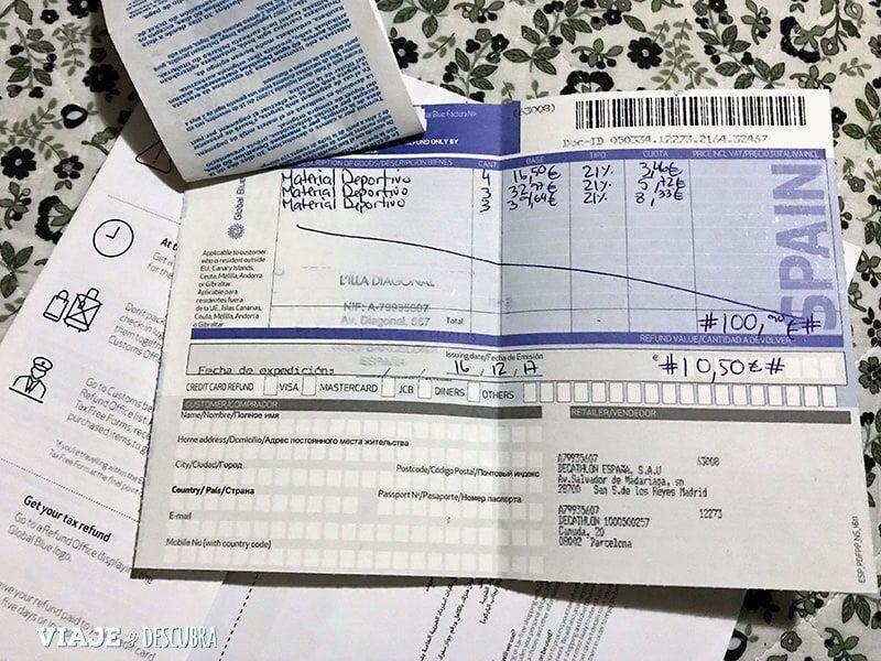 tax free, devolucion de impuestos, IVA, Europa