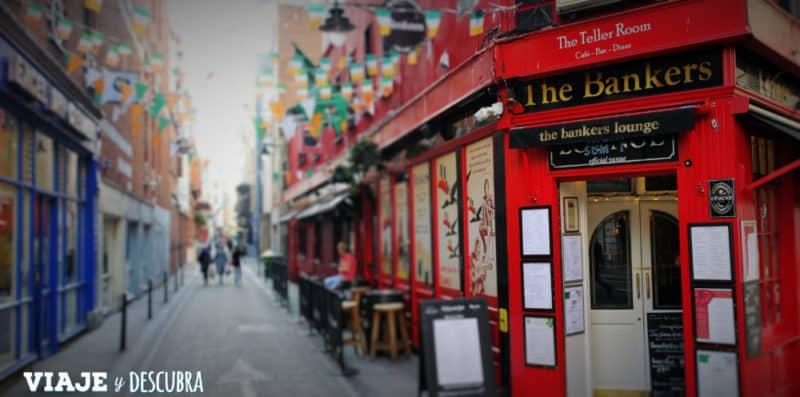 the bankers, bar, pub, dublin, irlanda, temple bar, dos días en Dublin, qué ver en Dublin, imperdibles Dublin, mapa Dublin