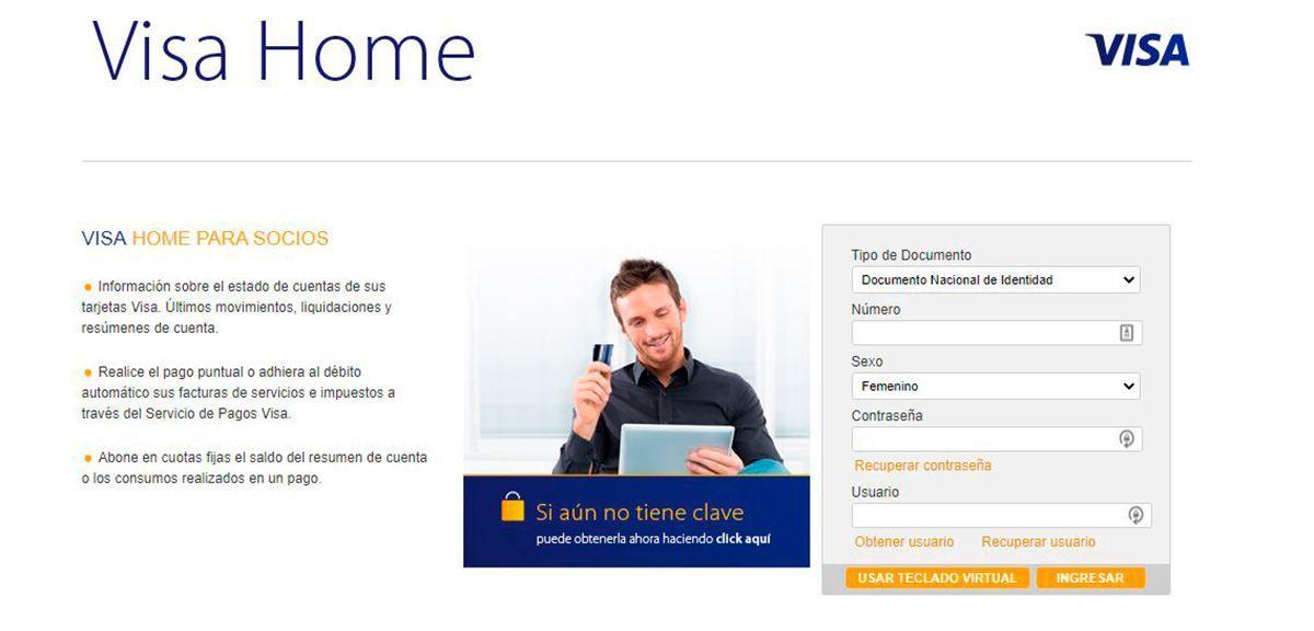 Visa Home, registrar viaje