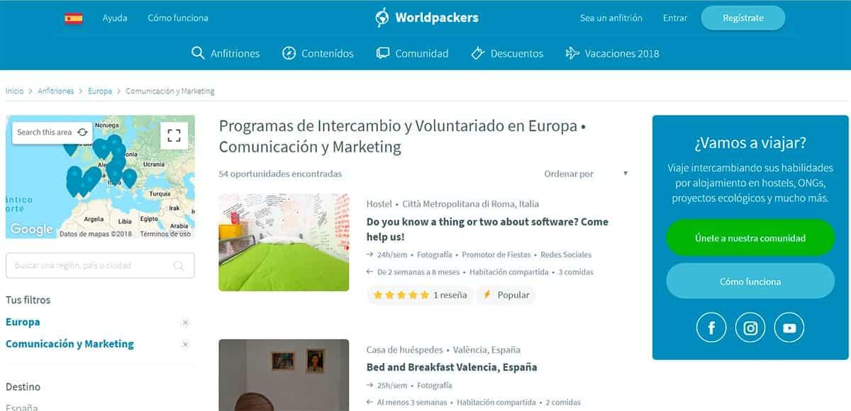 worldpackers, intercambio de trabajo, voluntariado